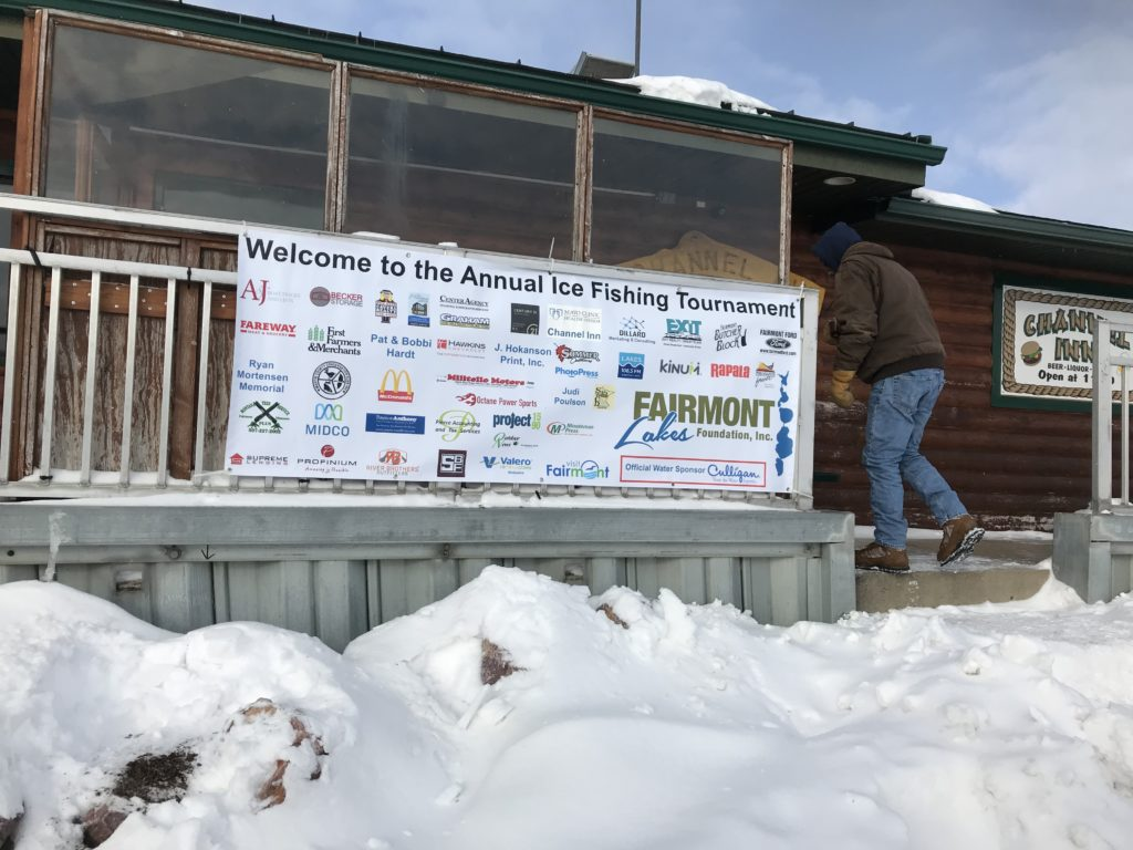 Many volunteers and local organizations come together to make the event happen. Banner of 30+ local businesses who supported the event.