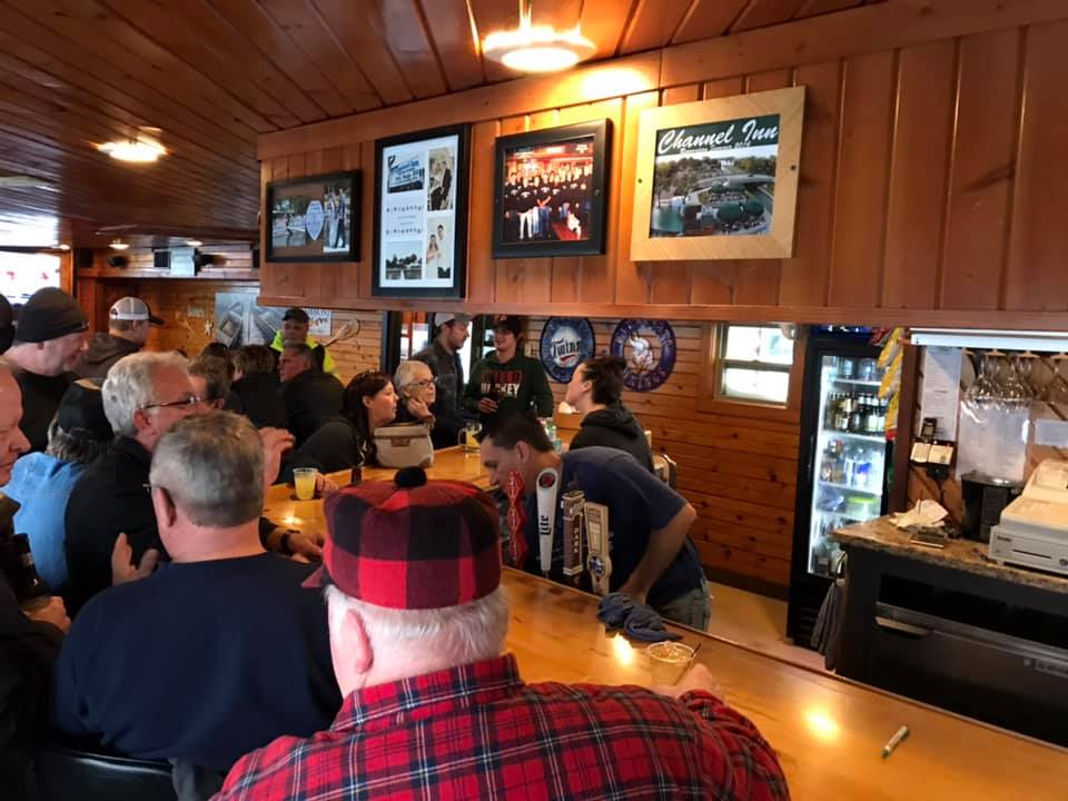 A crowd inside the Channel Inn during the tournament